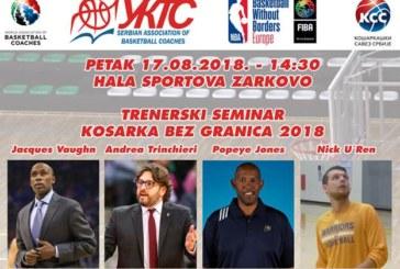"""Trenerski seminar """"Košarka bez granica 2018"""""""